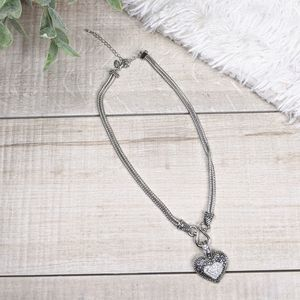 "Lia Sophia ""Love Dust"" crystal heart necklace"